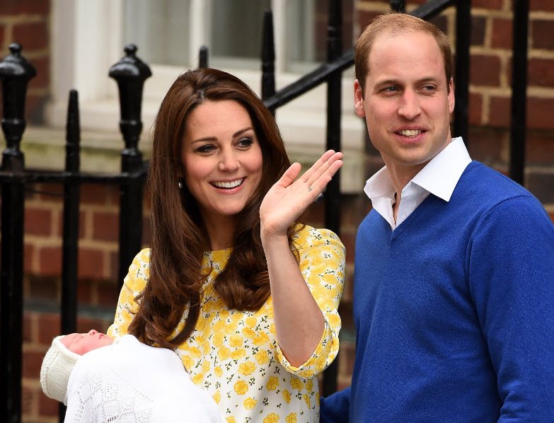 Kate, William and the Princess.