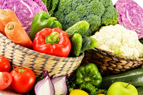 Composition with assorted vegetables