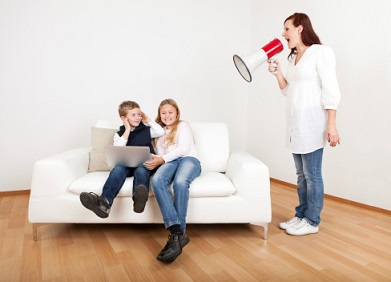 Mother on a megaphone