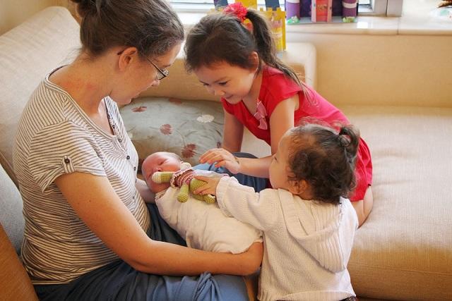 Nicole with her children
