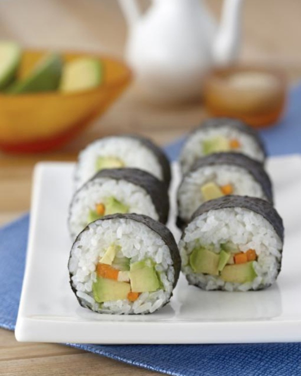 avo sushi Sick of fish fingers and potato smileys? This will help.