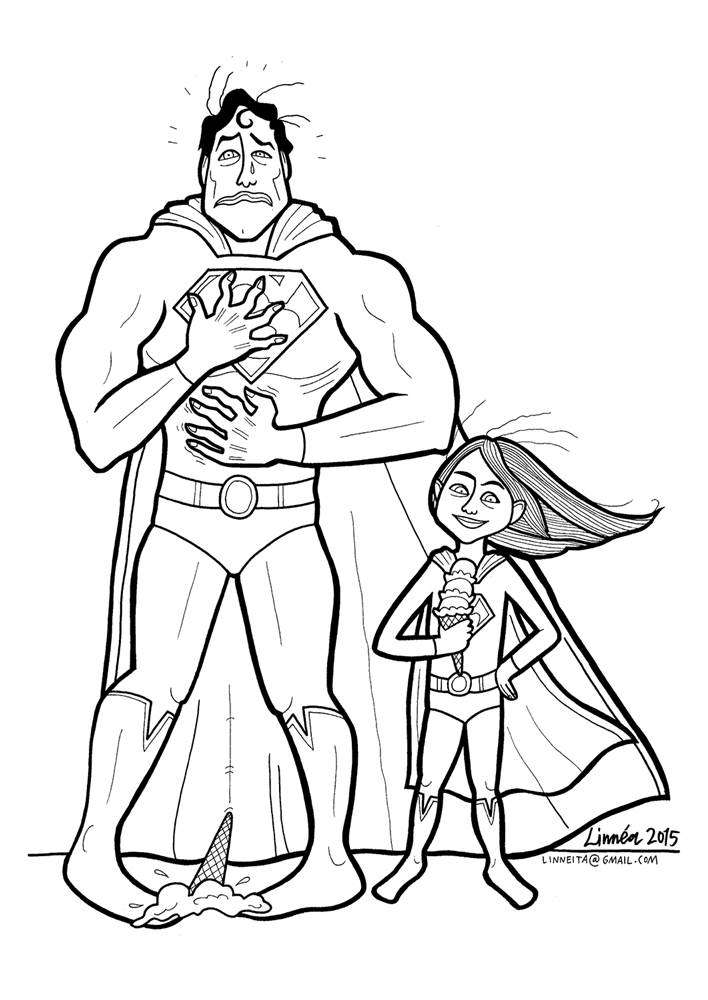 Ice Superhero Drawing This Superhero Gets Emotional