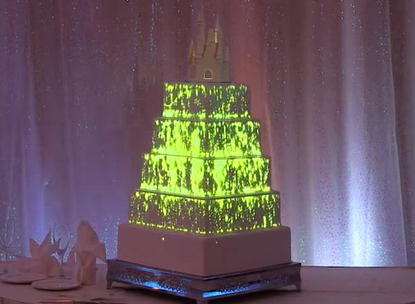 this light up disney wedding cake puts every other cake to shame. Black Bedroom Furniture Sets. Home Design Ideas
