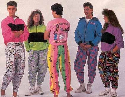 Fashion crimes of the 1990s.